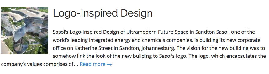 Sasol's Logo-Inspired Design
