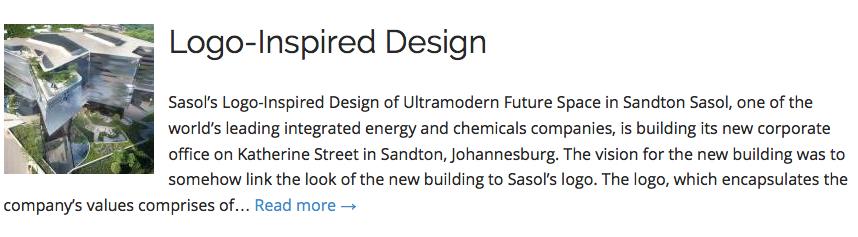 Sasol's Logo-Inspired Design