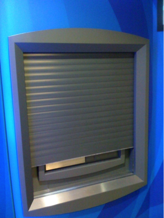 Customized high security Armadillo Roller Shutter - Standard Bank ATM.