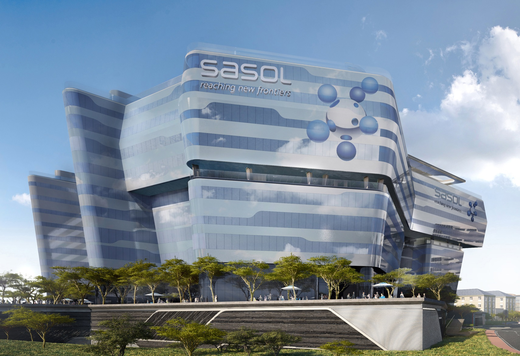 Sasol's Ultramodern Future Space in Sandton. Image courtesy of Paragon Architects.