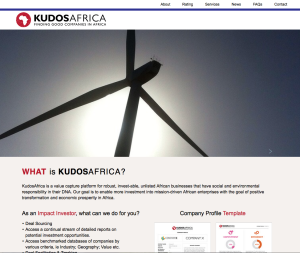 KudosAfrica Website designed by Redd West Design Company