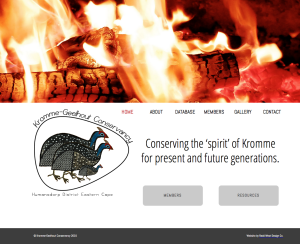 Kromme-Geelhout Conservancy Website designed by Redd West Design Company